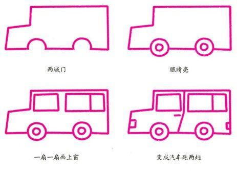 小孩画画简单车
