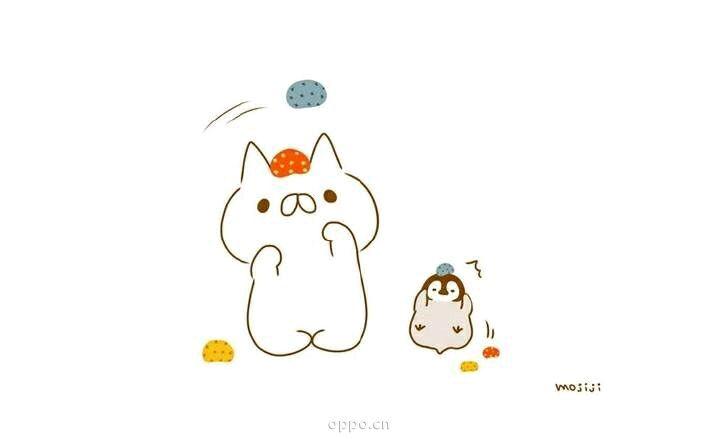 萌萌哒猫与***壁纸