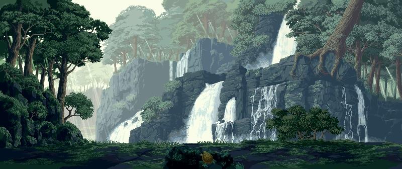 壁纸 风景 旅游 瀑布 山水 桌面 800_336