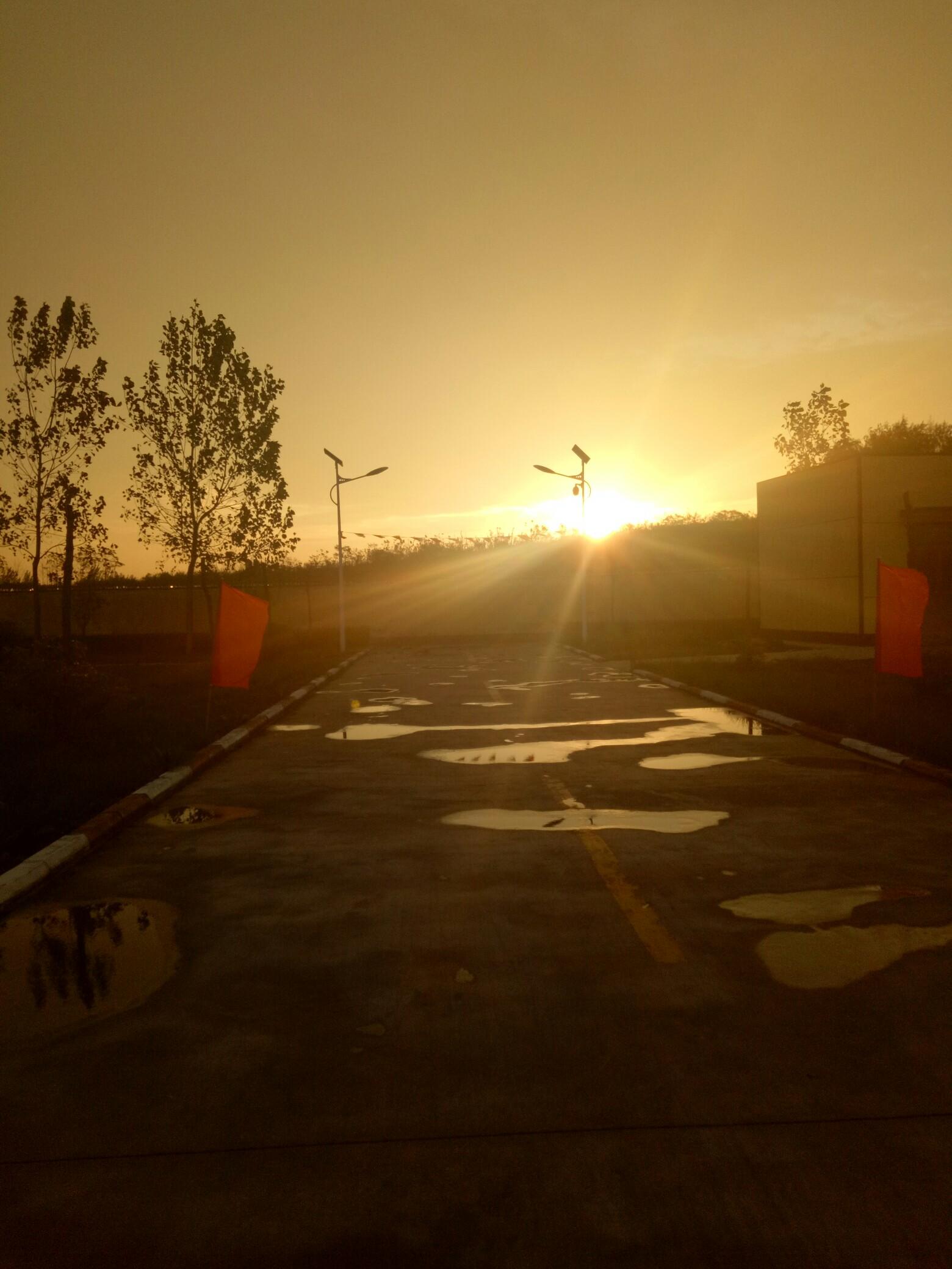 太阳你终于出来了