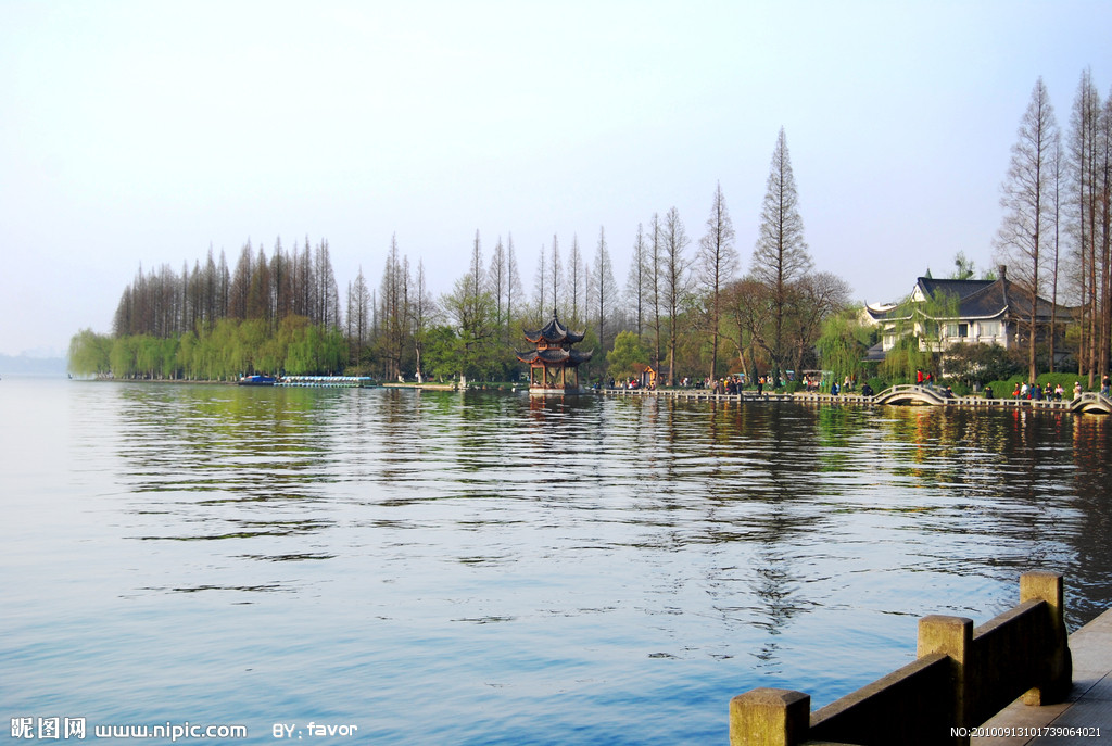 西湖美景简笔画-儿童西湖画法图片大全|杭州西湖怎么