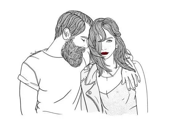 爱情超简单手绘