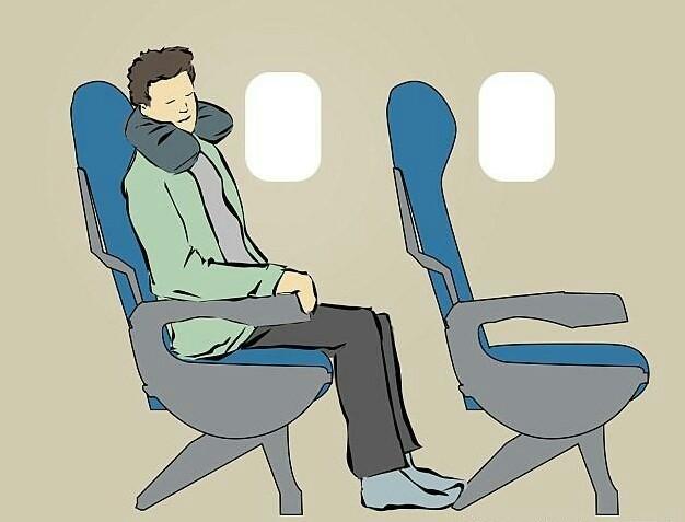 坐飞机睡觉全图