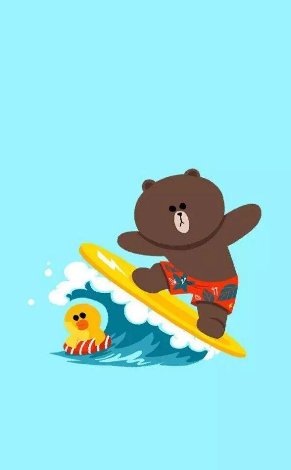 可爱的布朗熊