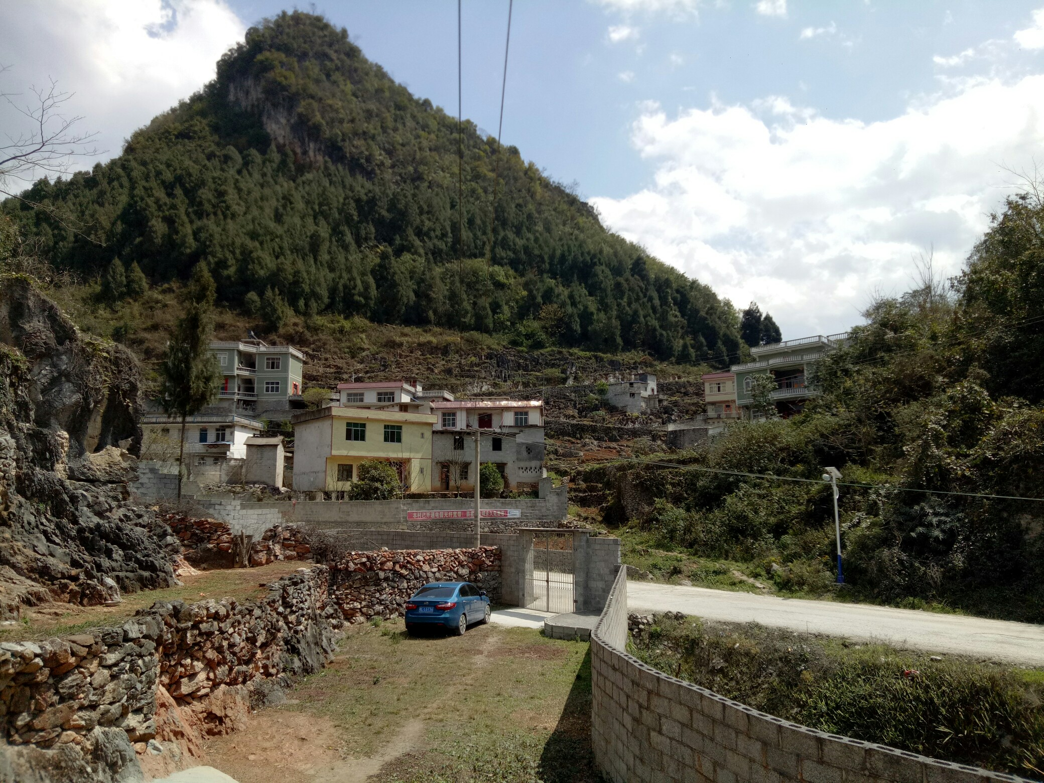 村子风景简笔画