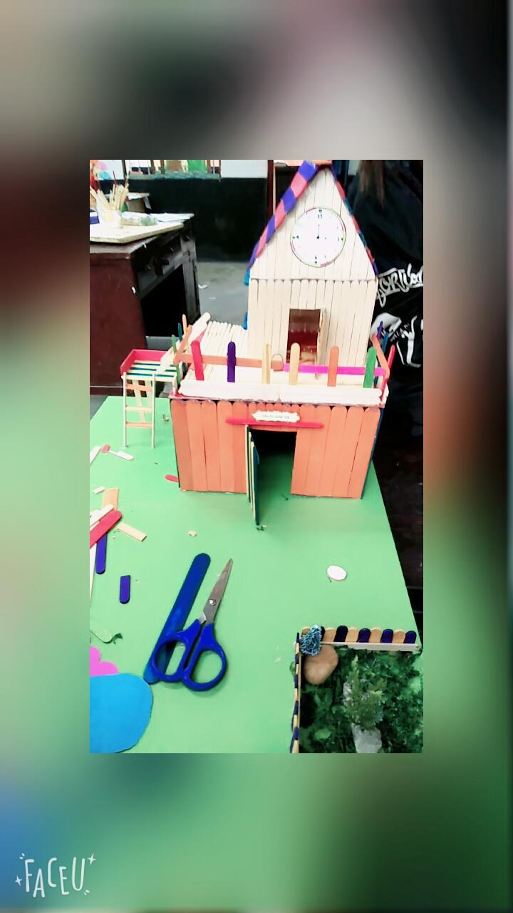 简单手工小房子制作 卷纸筒简单手工制作卡通小房子图解教程