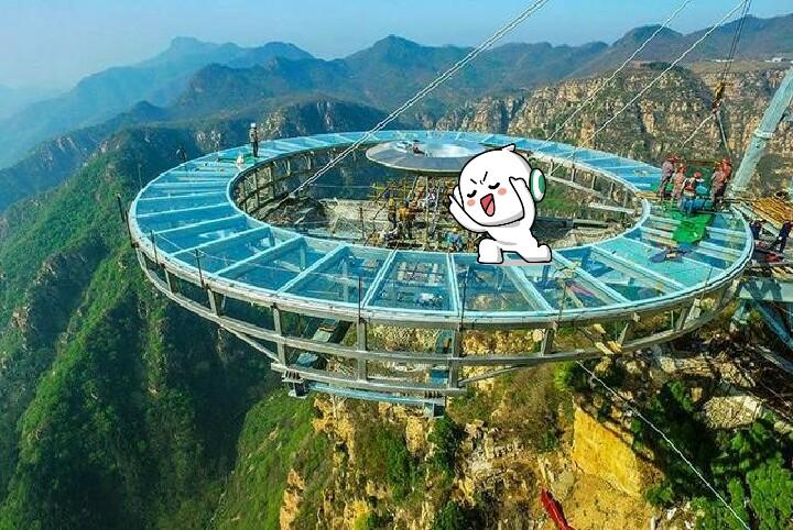 北京平谷区石林峡玻璃栈道