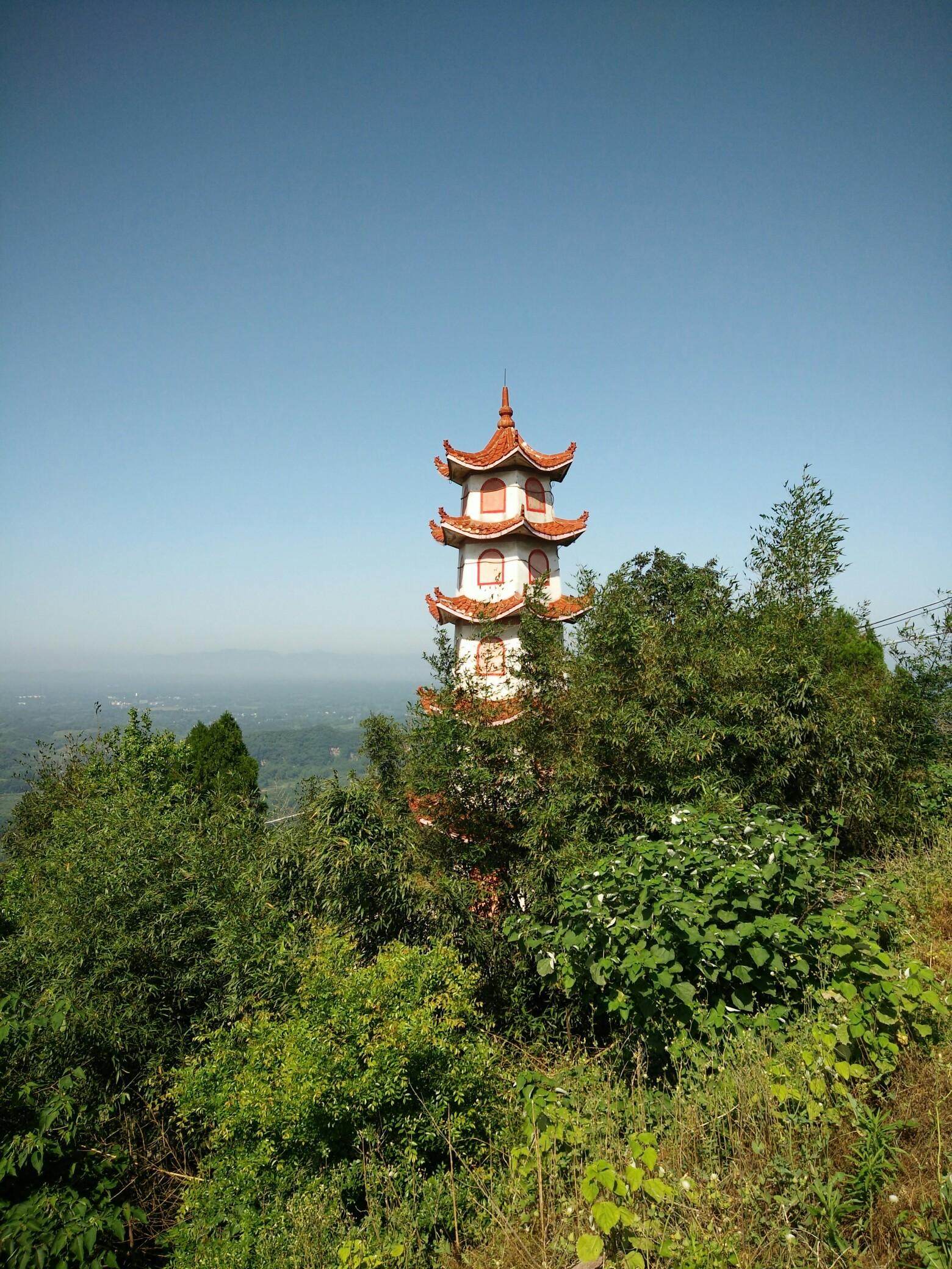 信阳震雷山五月风景