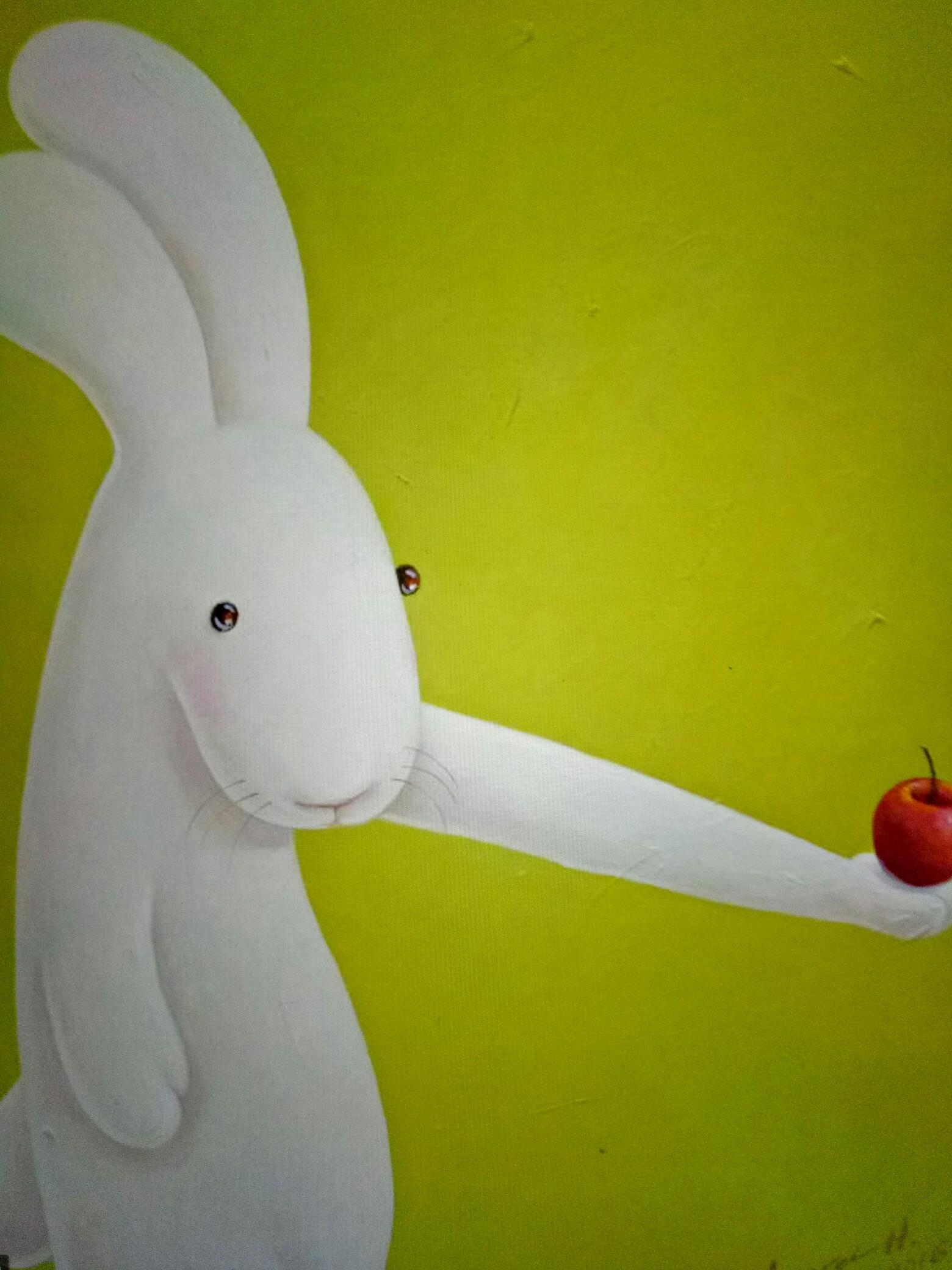 可爱的小兔兔.友友们晚安!
