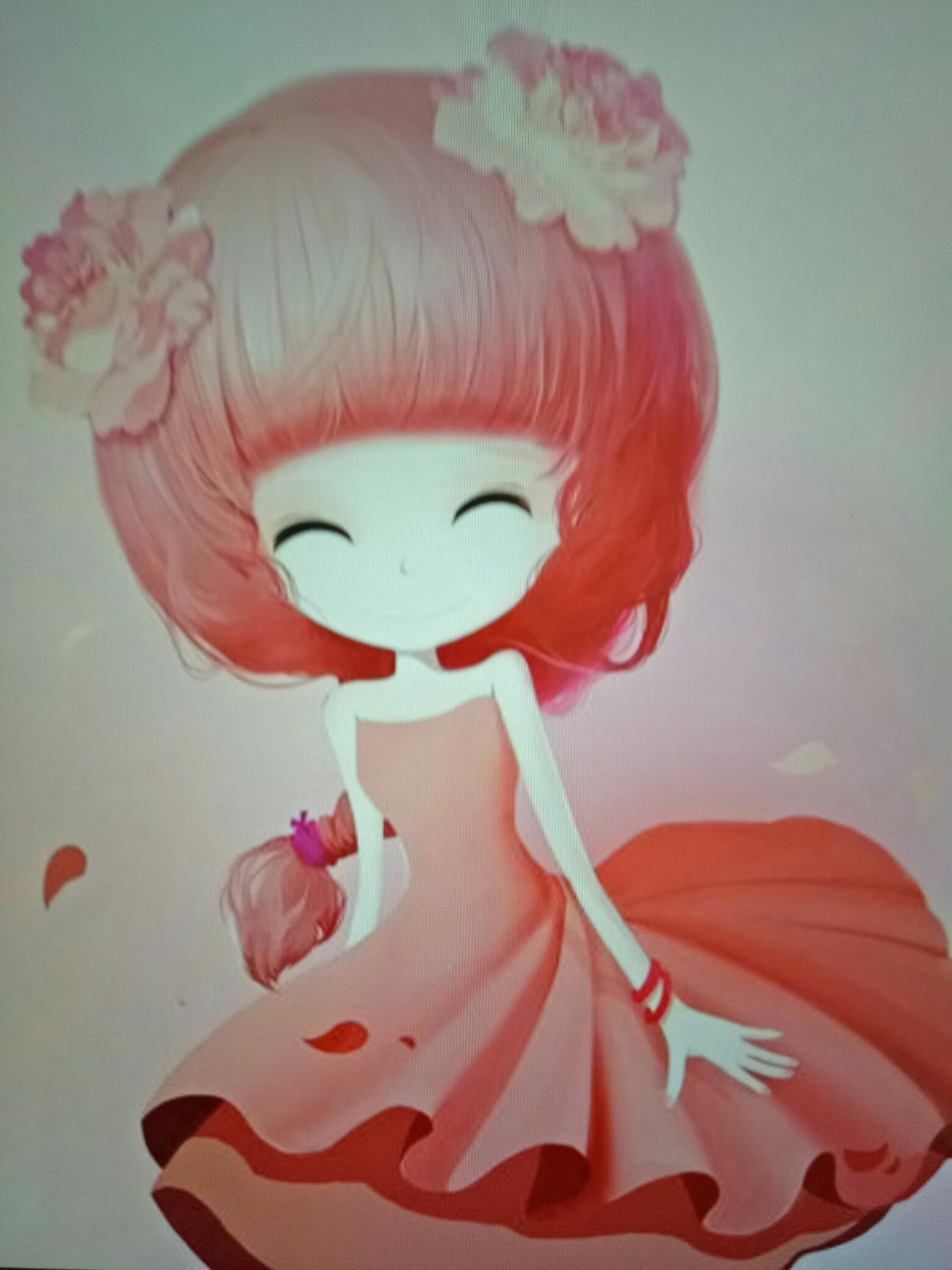 萌萌的小公主手绘系列,很是可爱的哦!