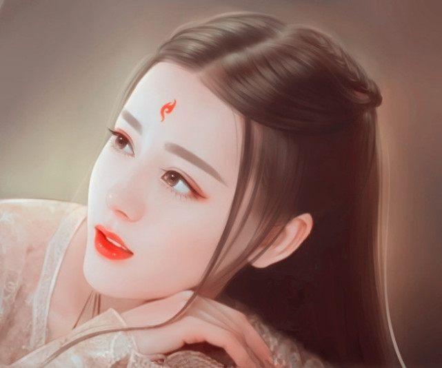 彩铅手绘迪丽热巴凤九