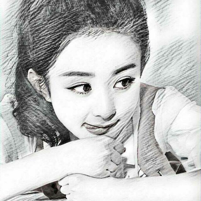 女星素描画像:杨幂眼睛很传神,周冬雨被画成村姑,angela