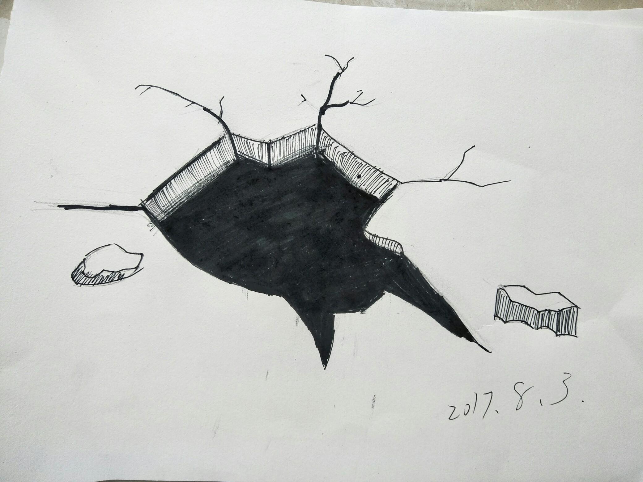 可以用圆珠笔或黑笔画.与素描有关系