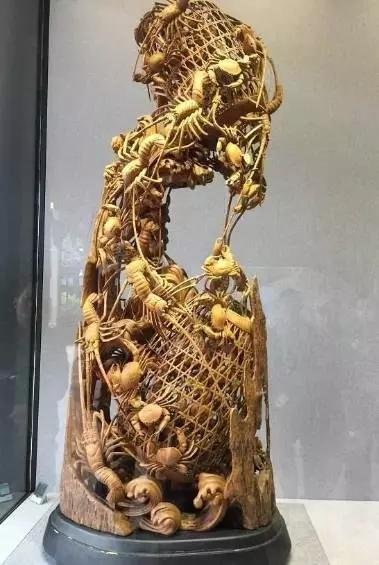 技惊天下的潮州木雕虾蟹篓,你知道它代表的寓意吗?之一!