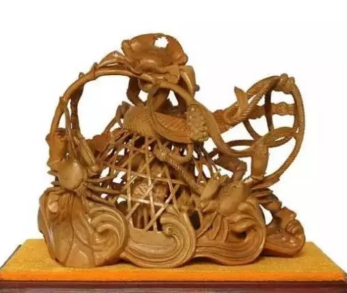 技惊天下的潮州木雕虾蟹篓,你知道它代表的寓意吗?之二!