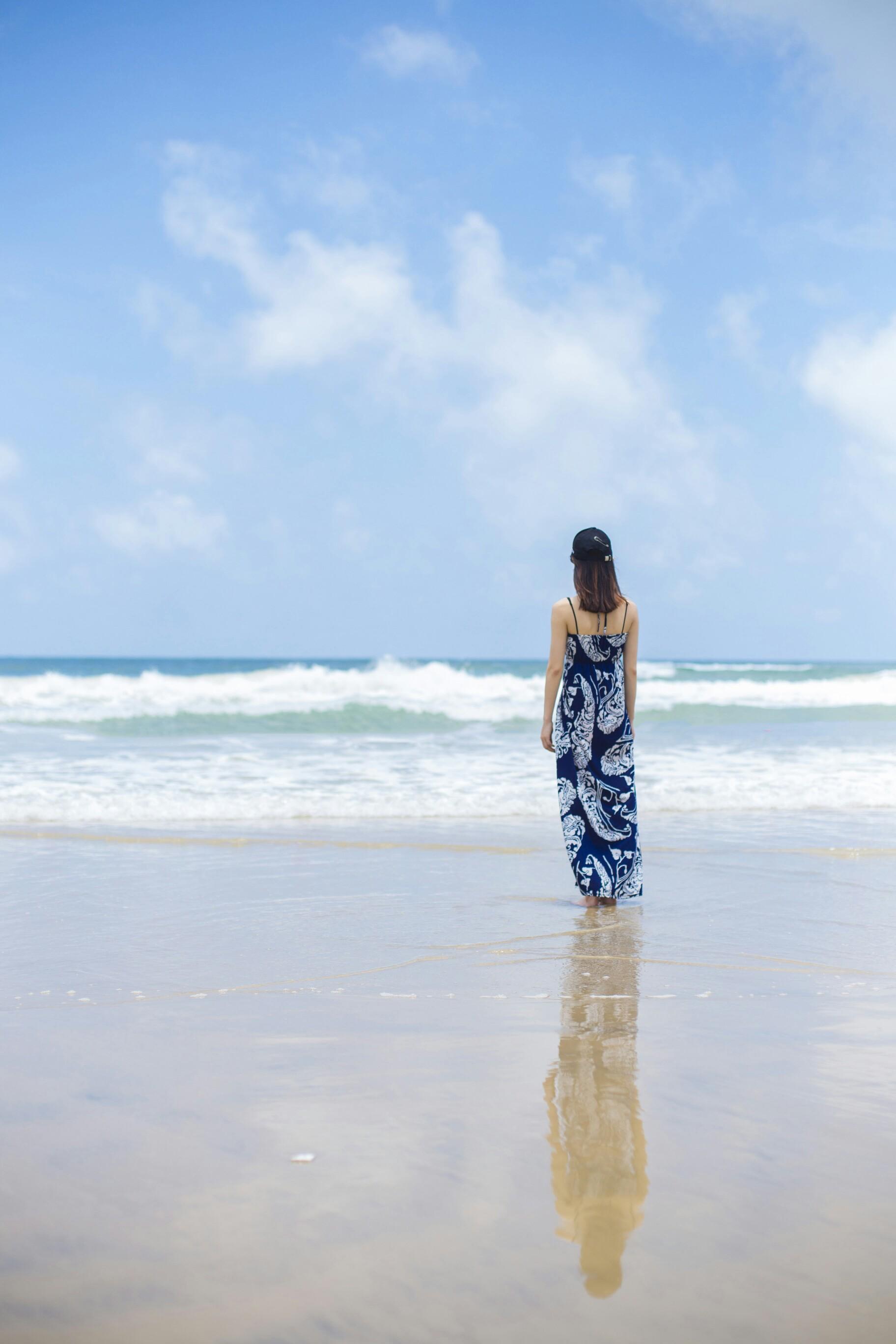 蓝天,白云,大海