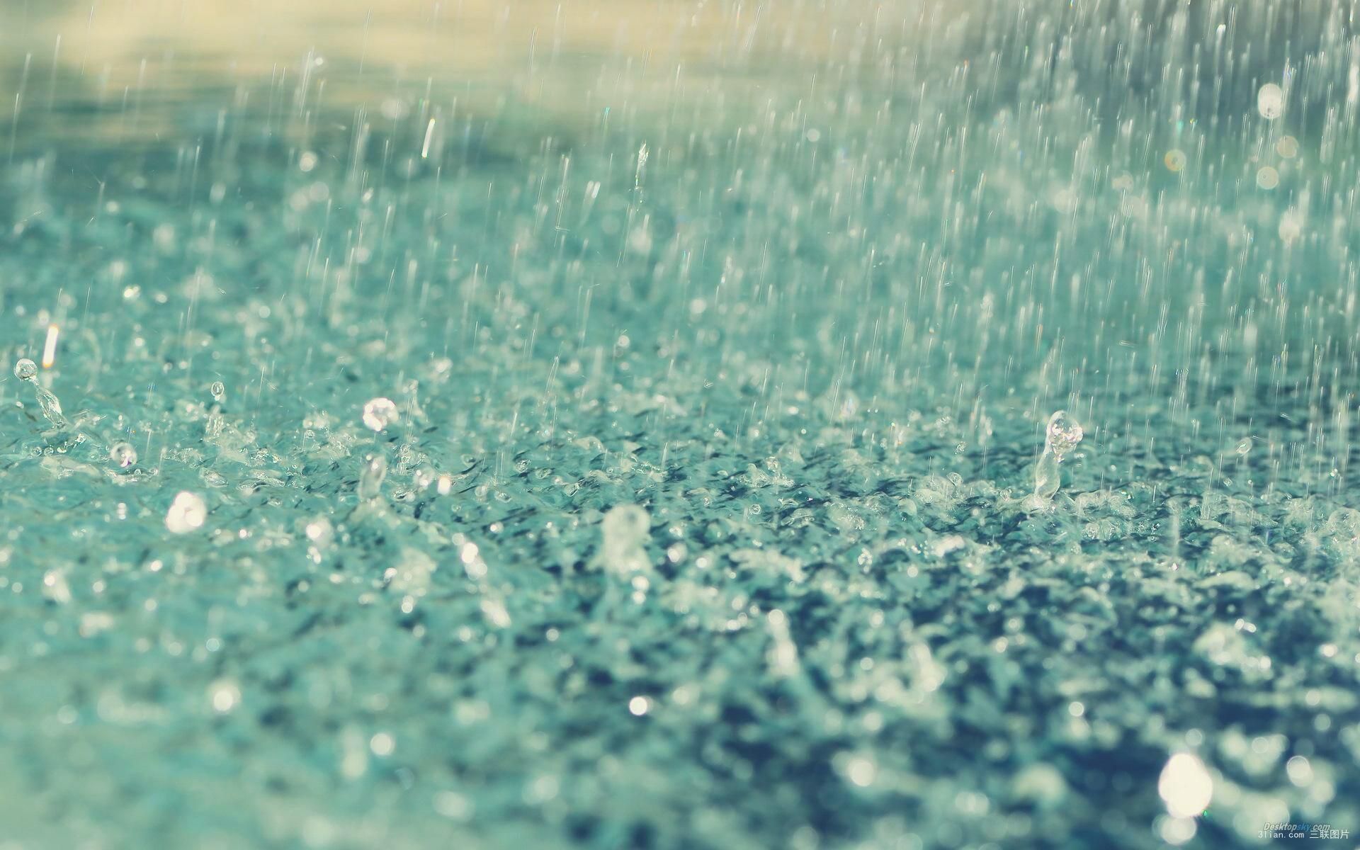 古风手绘唯美下雨图