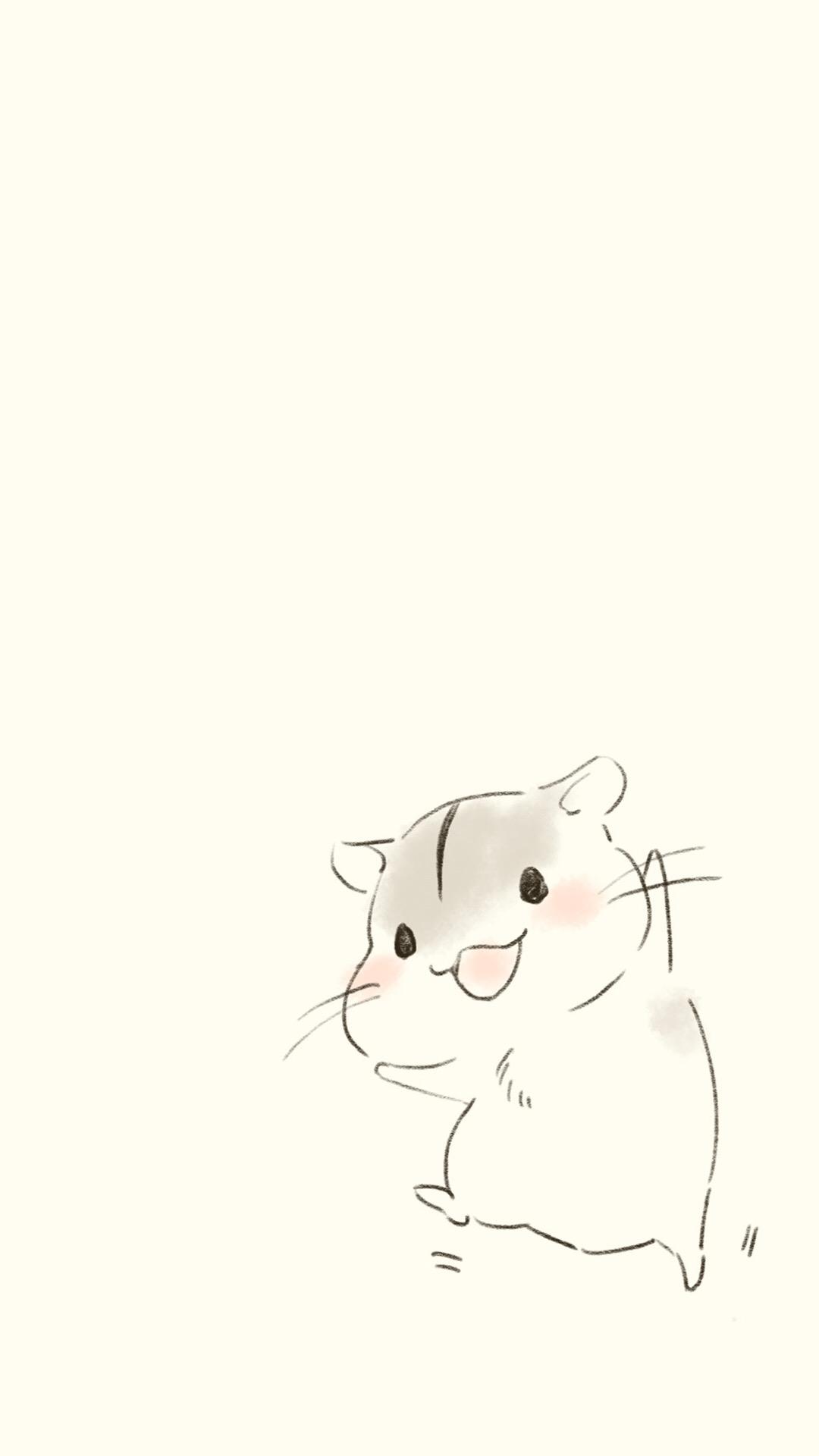 卡通萌鼠简笔画