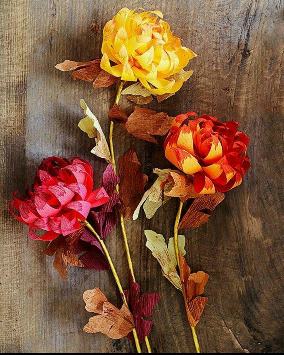 纸折玫瑰花