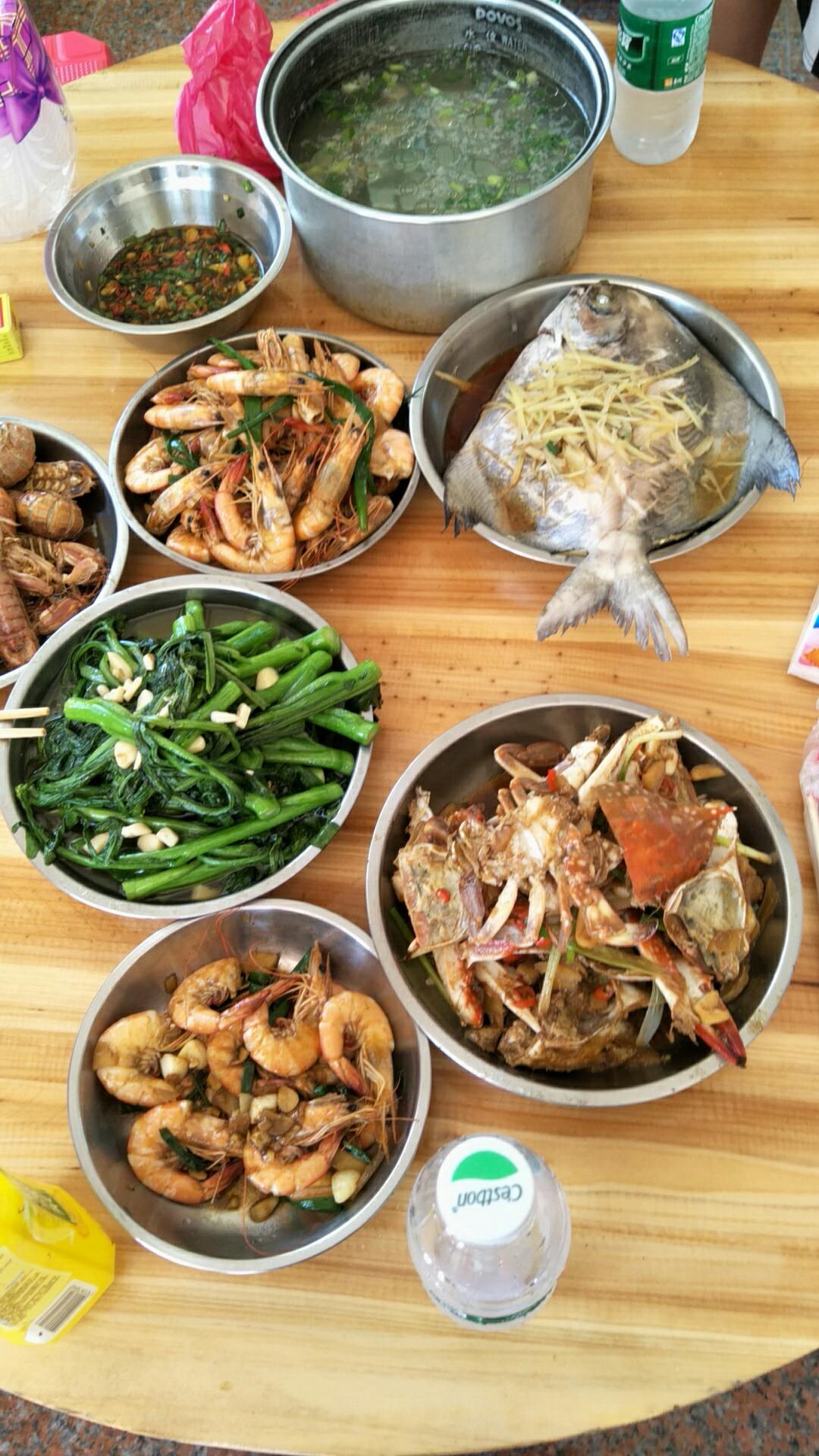 海陵岛的海鲜大餐