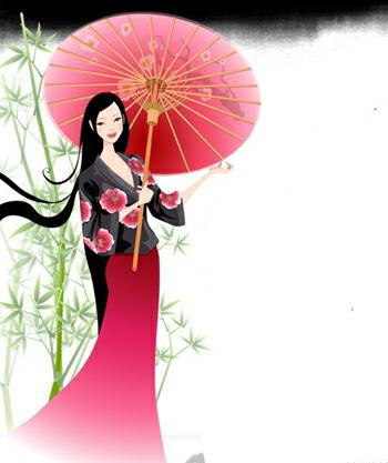 油纸伞古典中国风4