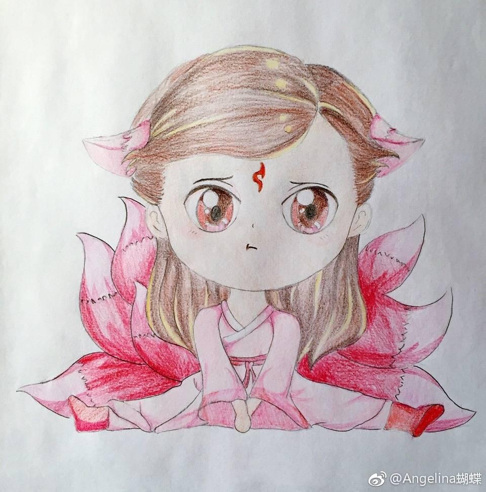 q版白凤九简笔画