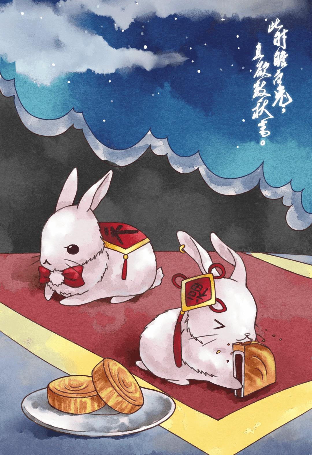 中秋 · 小团圆#小兔子,圆月亮,乐人生._帖子_oppo