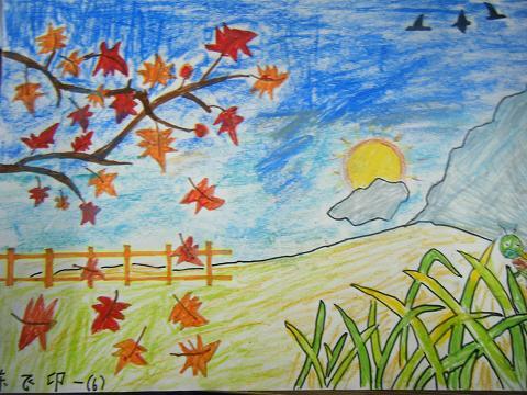秋天的画儿童画大班
